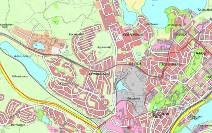 Reittikartta Keuruu-Jyväskylä -vakiovuorolle